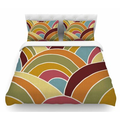 Arcs by Nacho Filella Digital Featherweight Duvet Cover Size: Twin