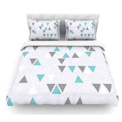 Triangle Love II by Nick Atkinson Featherweight Duvet Cover Size: Twin