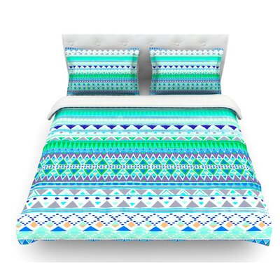 Emerald Chenoa by Nika Martinez Featherweight Duvet Cover Size: King, Fabric: Woven Polyester