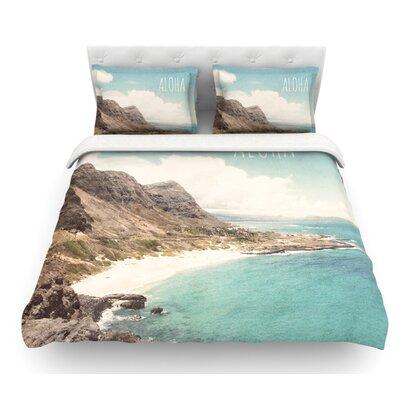 Aloha by Nastasia Cook Mountain Beach Featherweight Duvet Cover Size: Twin
