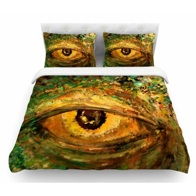 Eye of the Storm by Nathan Gibbs Featherweight Duvet Cover Size: Queen