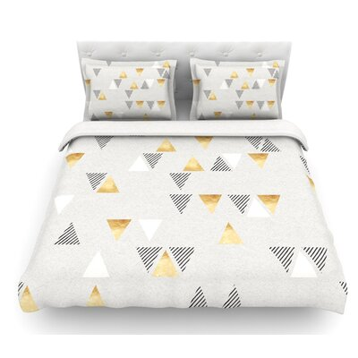 Triangle Love by Nick Atkinson Featherweight Duvet Cover Size: Twin