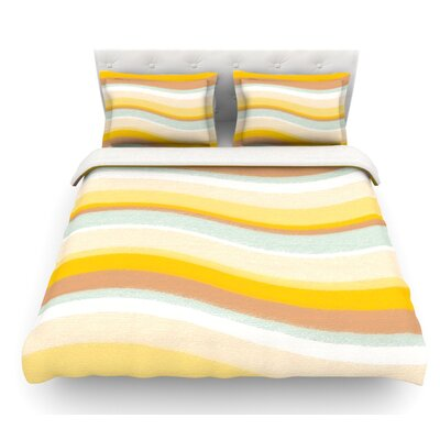 Desert Waves by Nika Martinez Featherweight Duvet Cover Size: Queen, Fabric: Lightweight Polyester