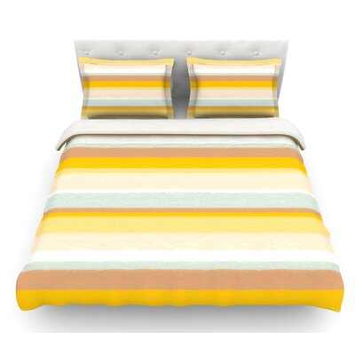Desert Stripes by Nika Martinez Featherweight Duvet Cover Size: Twin, Fabric: Lightweight Polyester