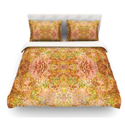 Goldenrod II by Nikposium Featherweight Duvet Cover Size: King/California King, Fabric: Woven Polyester