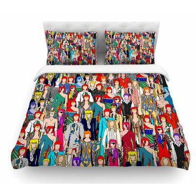 Wheres Bowie? by Notsniw Featherweight Duvet Cover Size: Twin