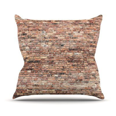 Rustic Bricks Throw Pillow Size: 16 H x 16 W x 3 D