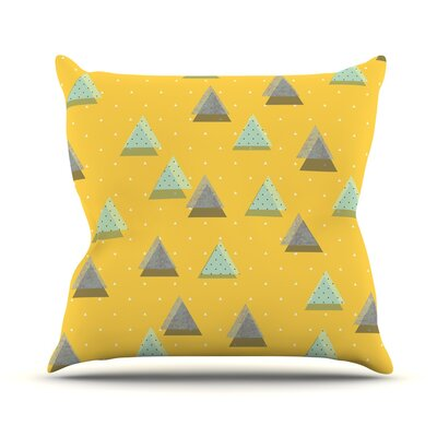 Triangles Throw Pillow Size: 16 H x 16 W x 3 D