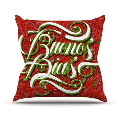 Buenos Dias Throw Pillow Size: 16 H x 16 W x 3 D