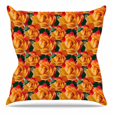 Hummingbird by Shirlei Patricia Muniz Throw Pillow Size: 20 H x 20 W x 4 D