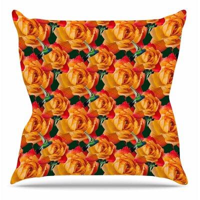 Hummingbird by Shirlei Patricia Muniz Throw Pillow Size: 20 H x 20 W x 4 D