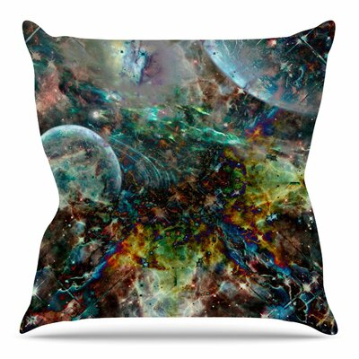 Space Throw Pillow Size: 16 H x 16 W x 4 D