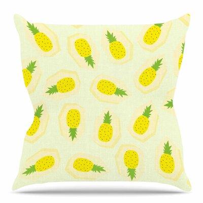 Pineapple Pattern by Strawberringo Throw Pillow Size: 26 H x 26 W x 4 D