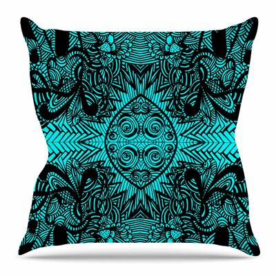 The Elephant Walk by Shirlei Patricia Muniz Throw Pillow Size: 18 H x 18 W x 4 D