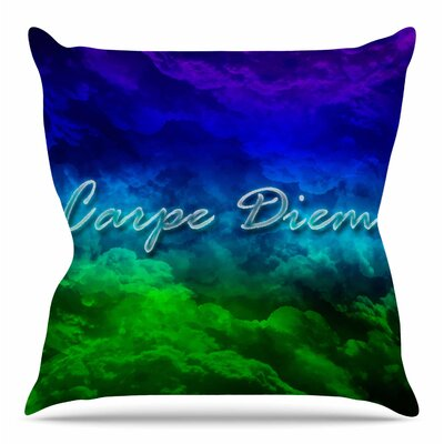 Carpe Diem by Shirlei Patricia Muniz Throw Pillow Size: 20 H x 20 W x 4 D