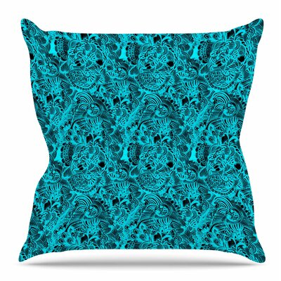 Zentangle Mystic by Shirlei Patricia Muniz Throw Pillow Size: 26 H x 26 W x 4 D