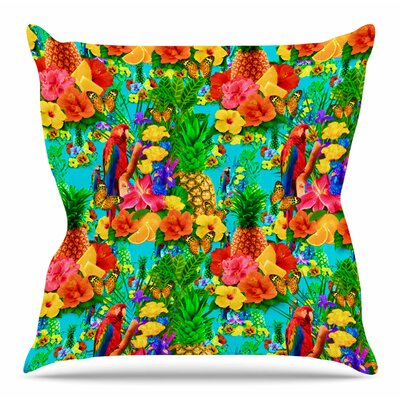 Tropical Style by Shirlei Patricia Muniz Throw Pillow Size: 18 H x 18 W x 4 D