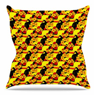Love Toucans by Shirlei Patricia Muniz Throw Pillow Size: 26 H x 26 W x 4 D