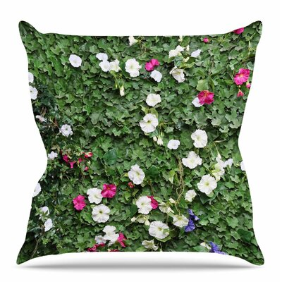 Flower Vine Wall by Susan Sanders Throw Pillow Size: 26 H x 26 W x 4 D