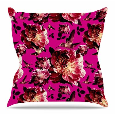 Floral by Shirlei Patricia Muniz Throw Pillow Size: 16 H x 16 W x 4 D