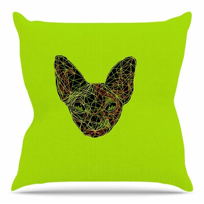 Geometry Sphynx by BarmalisiRTB Throw Pillow Size: 26 H x 26 W x 4 D