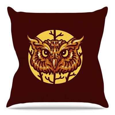 Head Owl by BarmalisiRTB Throw Pillow Size: 26 H x 26 W x 4 D