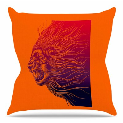 Furious+ by BarmalisiRTB Throw Pillow Size: 18 H x 18 W x 4 D