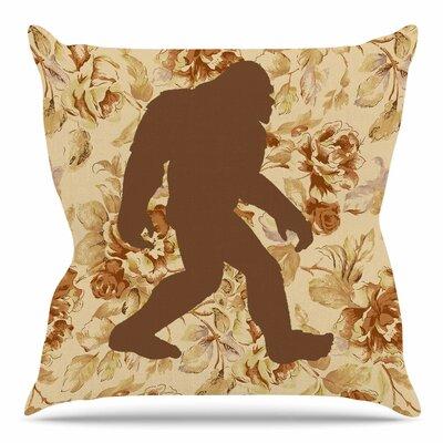 Bigfoot by Alias Throw Pillow Size: 16 H x 16 W x 4 D