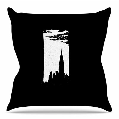 Chrysler Building by BarmalisiRTB Throw Pillow Size: 18 H x 18 W x 4 D