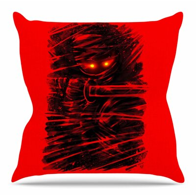 Dark Ninja by BarmalisiRTB Throw Pillow Size: 16 H x 16 W x 4 D