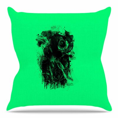 Gasmask by BarmalisiRTB Throw Pillow Size: 26 H x 26 W x 4 D