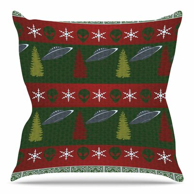 Xmas Files by Alias Throw Pillow Size: 18 H x 18 W x 4 D