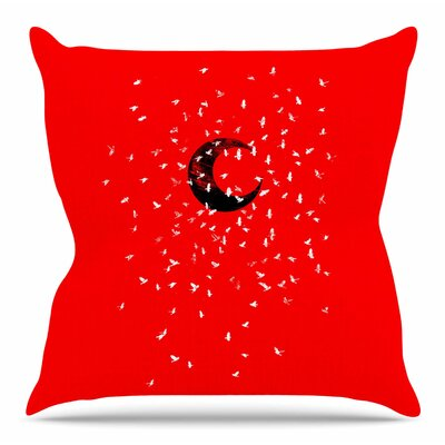 Moon by BarmalisiRTB Throw Pillow Size: 26 H x 26 W x 4 D