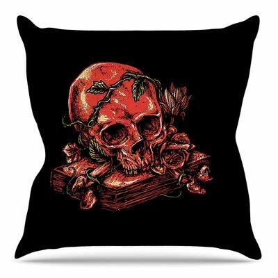 Dark History by BarmalisiRTB Throw Pillow Size: 18 H x 18 W x 4 D