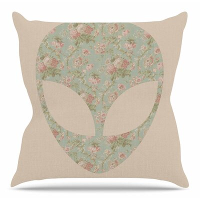 Floral Alien by Alias Throw Pillow Size: 16 H x 16 W x 4 D