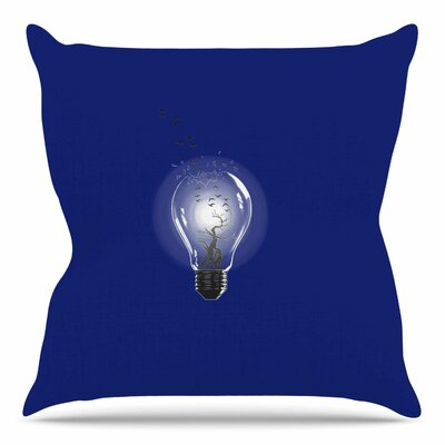 Bulb by BarmalisiRTB Throw Pillow Size: 18 H x 18 W x 4 D