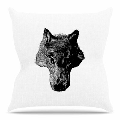 Coyote by BarmalisiRTB Throw Pillow Size: 20 H x 20 W x 4 D