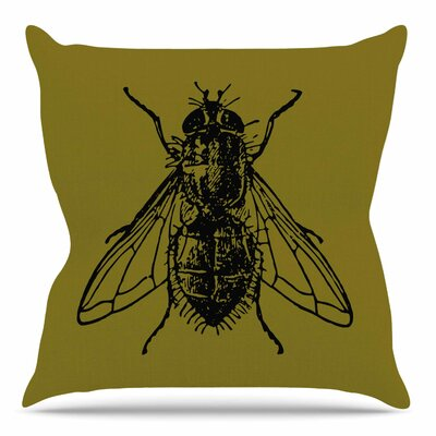 Too Fly by Alias Throw Pillow Size: 16 H x 16 W x 4 D