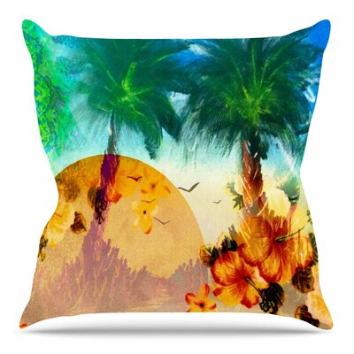 Paradise Patterns by Infinite Spray Art Throw Pillow Size: 18 H x 18 W x 4 D