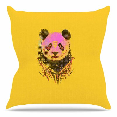 Dandy Panda by BarmalisiRTB Throw Pillow Size: 26 H x 26 W x 4 D