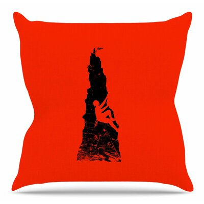 Climbing by BarmalisiRTB Throw Pillow Size: 18 H x 18 W x 4 D