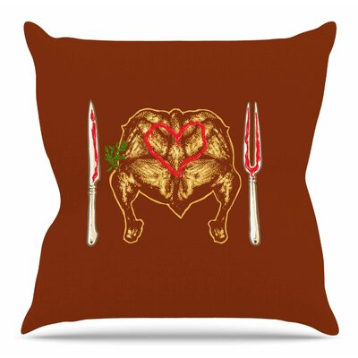 Weekly Menu by BarmalisiRTB Throw Pillow Size: 20 H x 20 W x 4 D