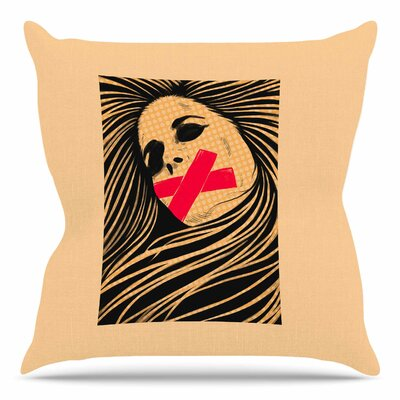 Tight-Lipped by BarmalisiRTB Throw Pillow Size: 20 H x 20 W x 4 D