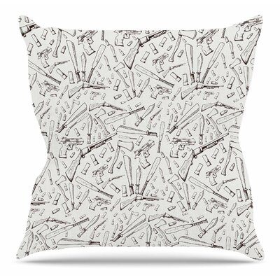 Apocalyptic Weapons by Stephanie Vaeth Throw Pillow Size: 18 H x 18 W x 4 D