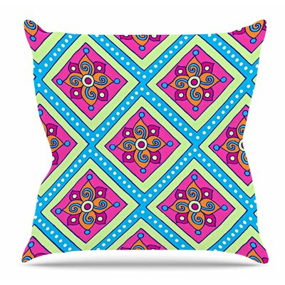 Colorful Diamonds by Sarah Oelerich Throw Pillow Size: 26 H x 26 W x 4 D