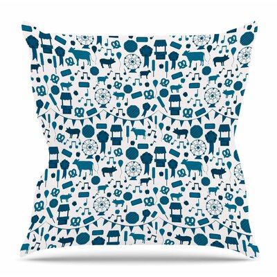 Country Fair by Stephanie Vaeth Throw Pillow Size: 26 H x 26 W x 4 D