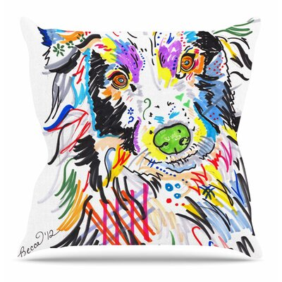 Buzz by Rebecca Fisher Throw Pillow Size: 16 H x 16 W x 4 D