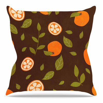 Orange Pattern by Strawberringo Throw Pillow Size: 18 H x 18 W x 4 D