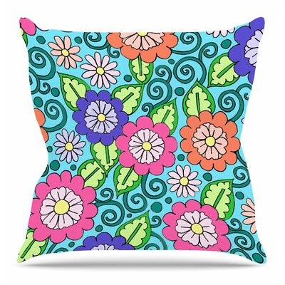 Summer Floral by Sarah Oelerich Throw Pillow Size: 16 H x 16 W x 4 D
