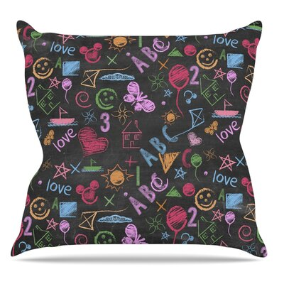 Kindergarden Crazy by Snap Studio Throw Pillow Size: 18 H x 18 W x 4 D